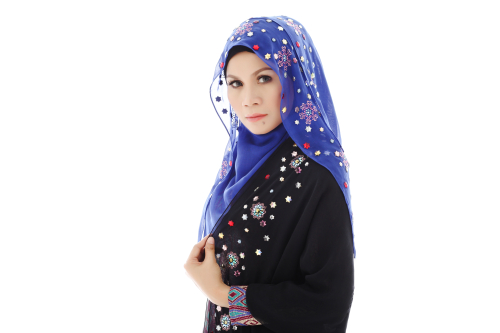 Embellished tudung headscarf by Malaysian label Bawal Exclusive | Source: Courtesy