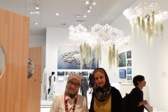 Alia Khan with the incredible Professor Tuti from Indonesia, traditional healing arts specialist - here at the Mori Art Museum opening ceremony in Tokyo