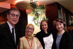 Mrs. Mori of Mori Art Museum in Japan invites Alia Khan and forum speakers at Museum dinner in Tokyo