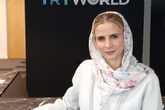 TRT World, before going on air with Alia Khan