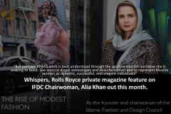 IFDC's Alia Khan Features in Whispers, Rolls Royce's Private Magazine