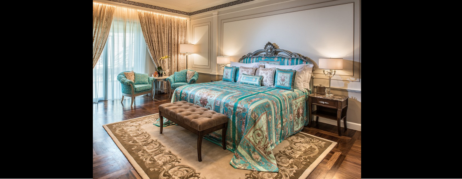 In addition to 215 hotel rooms and suites, Palazzo Versace Dubai has 169 private residences, ranging from one to six bedrooms